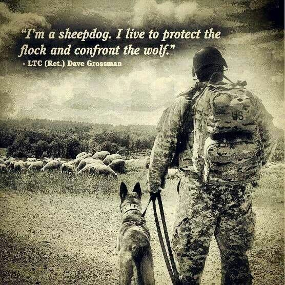 On Sheep, Wolves and Sheepdogs (From the book, On Combat, by Lt. Col. Dave Grossman)